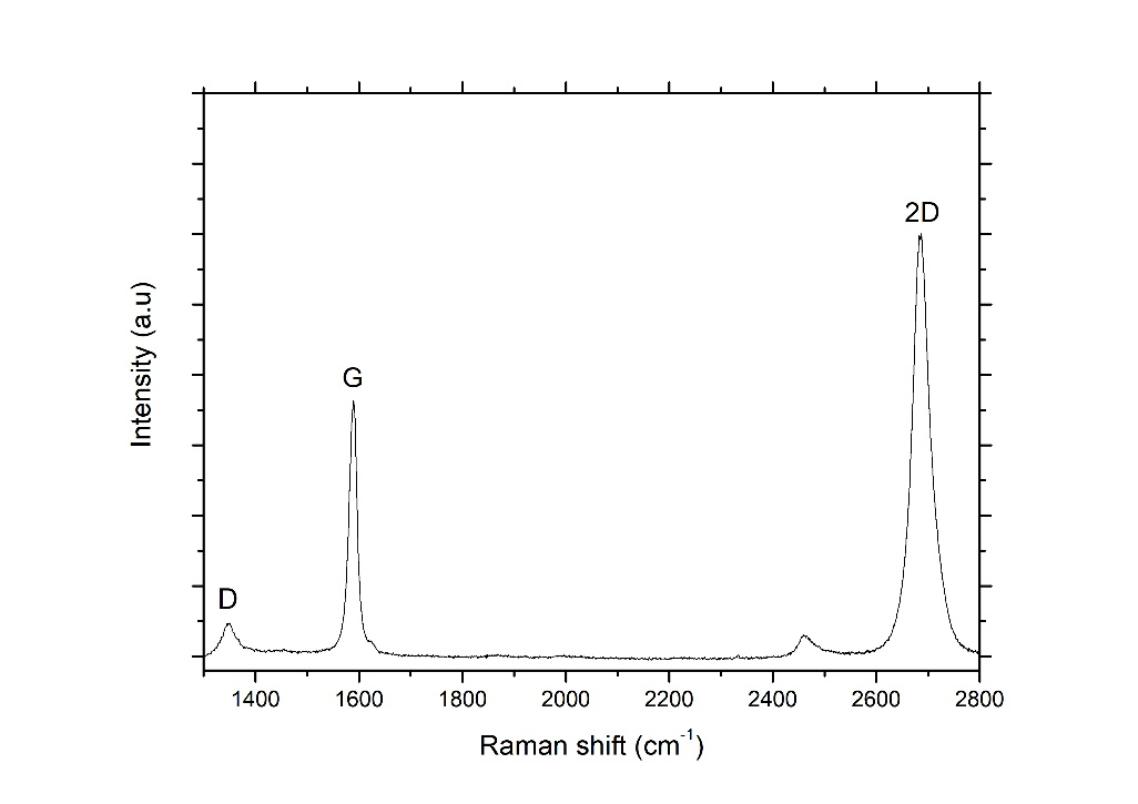 Raman spectrum of graphene film
